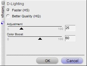 Capture NX D-Lighting HS Options