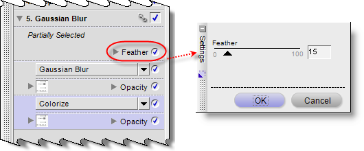 Feather settings