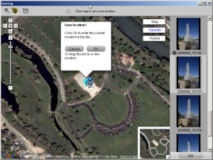 Nikon View Geotagging Interface.