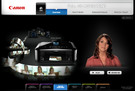 Find out more about Canon Full HD Movie Print